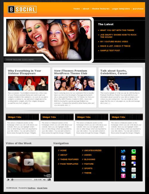 bSocial WordPress Theme