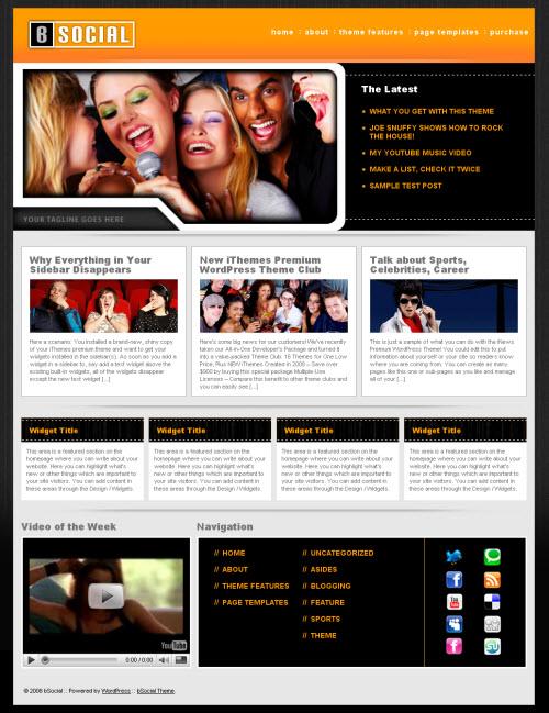 bSocial WordPress Theme