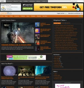 Gameline WordPress Theme