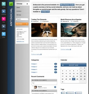 Antisocial WordPress Theme