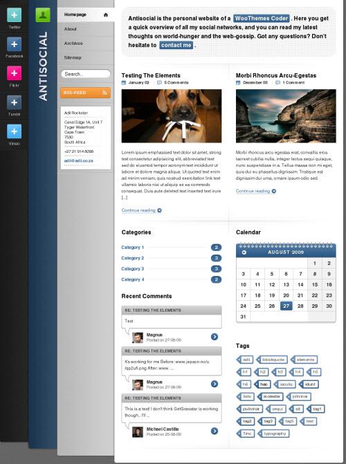 Antisocial WordPress Theme