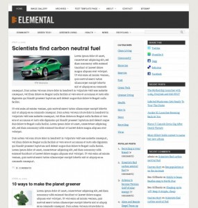 Elemental WordPress Theme
