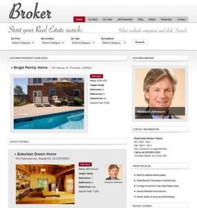 Real Estate Theme Broker