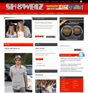 Showbiz WordPress Theme