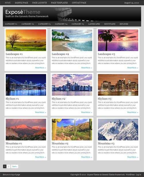 Expose WordPress Theme