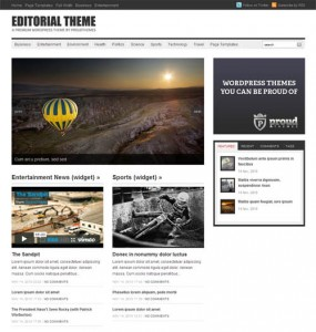 Editorial WordPress Theme