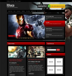 Ithaca Gaming WordPress Theme
