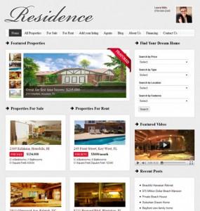 Residence WordPress Theme