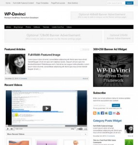WP-DaVinci WordPress Theme Framework