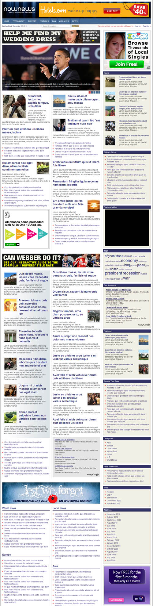 Now News Premium WordPress Theme