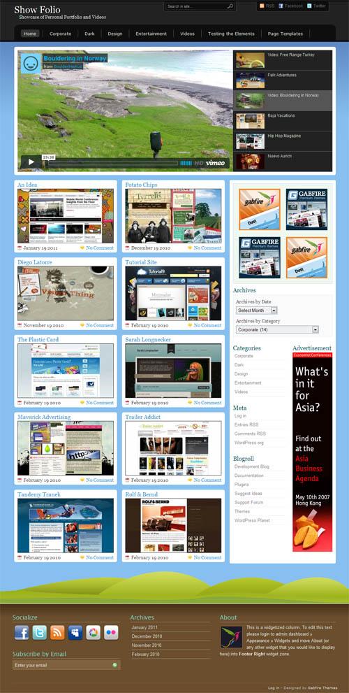 Showfolio Portfolio WordPress Theme