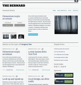 The Bernard WordPress Theme
