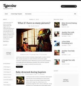 Typozine WordPress Theme