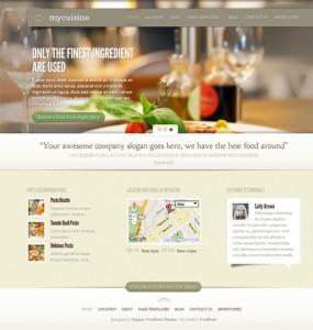 My Cuisine WordPress Theme