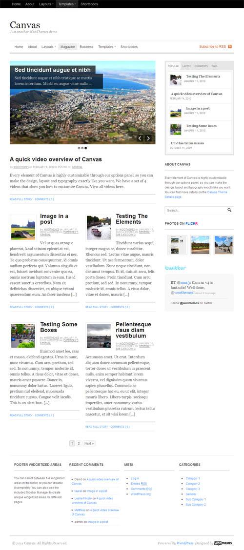 Canvas WordPress Theme