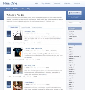 Plus One WordPress Theme