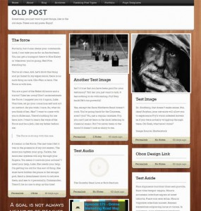 old-post-wordpress-theme