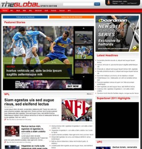 global sports wordpress theme