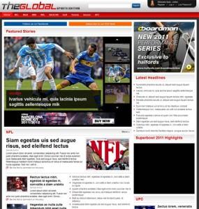 global sports wordpress theme