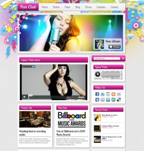 Fan Club Premium WordPress Theme