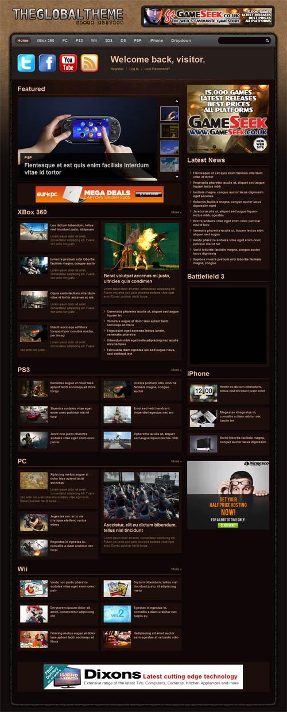 Gamer WordPress Theme