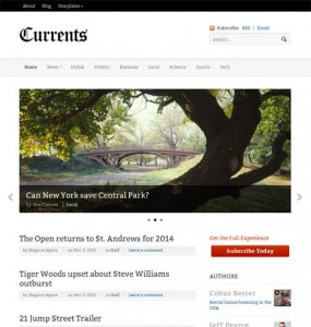 Currents WordPress News Theme