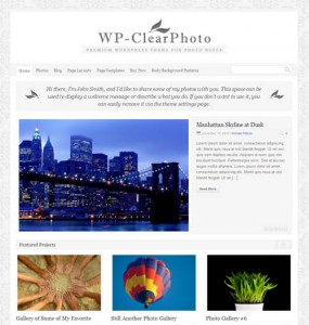 WP Clear Photo WordPress Theme