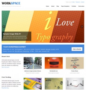Work Space WordPress Theme