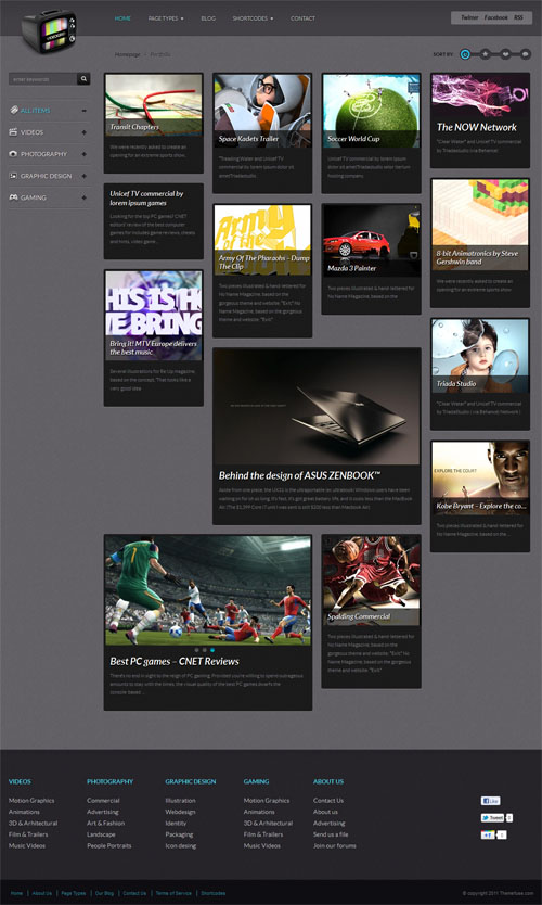 Video Grid WordPress Theme