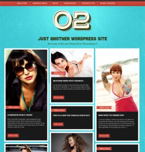 O2 Responsive WordPress Theme