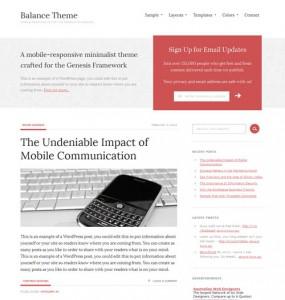 Balance Premium WordPress Theme