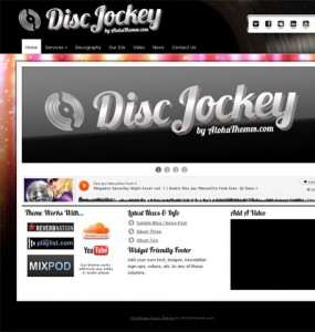 Disc Jockey Music WordPress Theme