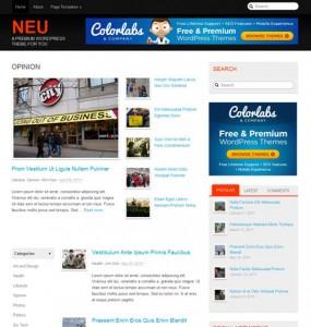 Neu Magazine WordPress Theme