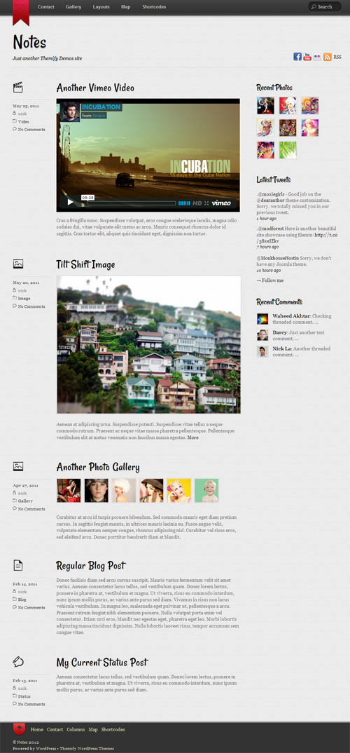 Responsive WordPress Blog Theme Notes