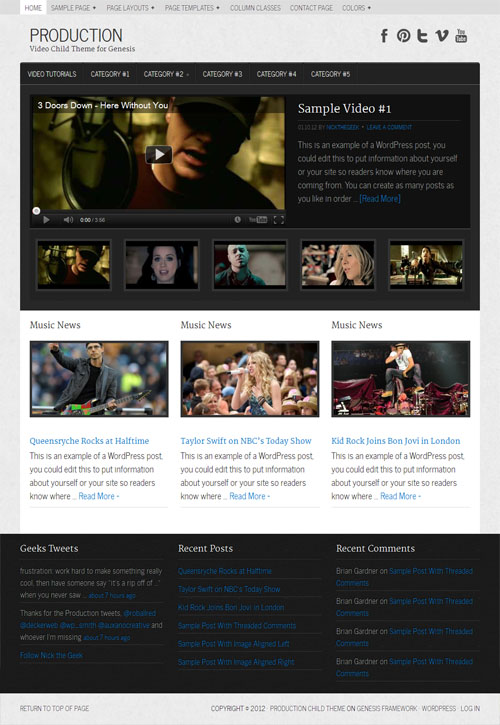 Production Video WordPress Theme