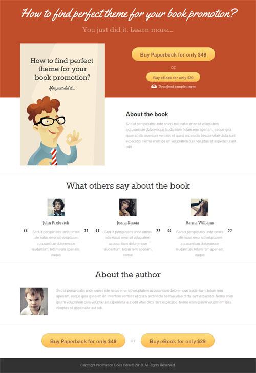 Book Promotion WordPress Theme