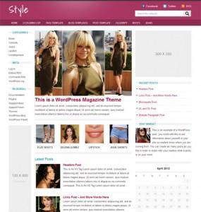 Style Magazine WordPress Theme