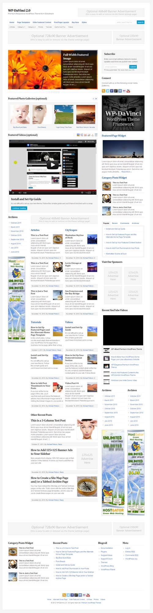 DaVinci 2.0 Premium WordPress Theme