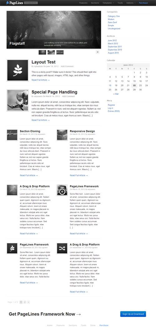 pagelines framework