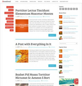 Sensational Responsive Blog WordPress Theme
