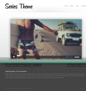 video series wordpress theme