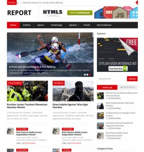 Report Magazine WordPress Theme